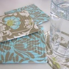Created with bound edges and lovely fabric, the Keep it Cool Coasters are going to prevent your hot and cold beverages from leaving a mark all the while ensuring that your space looks fancy. You could create this for your own home or sew them up as a hostess gift.