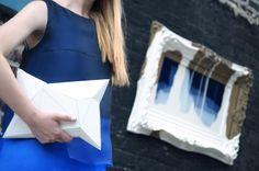 [ Lizzie Lo ]: #ARTMEETSFASHION : Azul http://www.lizzie-lo.com/2014/09/artmeetsfashion-azul.html  [MAC Tangerine Dream lipstick  +  Fendi SS14 Tiered dégradé silk-organza dress  +  Formula X white matter  +  APCLPSO SULT clutch  +  Fendi SS14 iridia PVC sandals]