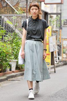 Shuri | used CONVERSE 無印良品 | 4th week Jul. 2016 | Harajuku | Tokyo Street Style | TOKYO STREET FASHION NEWS | style-arena.jp