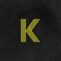 Just Letter K   -personal typography work