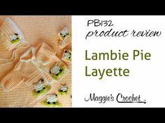 Lambie Pie Layette Crochet Pattern Product Review PB132 $7.65