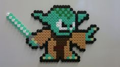 Star Wars - Yoda (Mega Man style) perler beads by Björn Börjesson