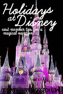 Winter Disney Tips - I love to see Disney World over the holidays! Talk about magical!