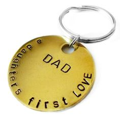 Dad- A Daughters First Love, Mens Keychain, Father of the Bride, New Dad, Grandpa, Birthday Gift Idea for Father's Day on Etsy, $249.02