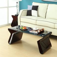 Acryic With Magazine Stand Coffee Table Set