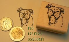 P63 Pitbull smile rubber stamp by dragonflybuzz on Etsy