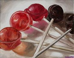 Tootsie Pop Rainbow - by Aimee L. Dingman from Candy art exhibit Candy Drawing, Ap Drawing, Still Life Drawing, Still Life Art, Scales Drawing, Observational Drawing, Ap Studio Art, Candy Art, Drawing Projects