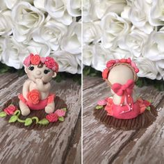 Fondant  Baby Cupcakes  Toppers