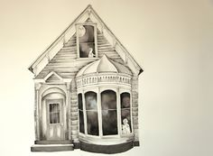 e Thais Beltrame - Deixei o Céu Cair / Nanquim e aquarela sobre papel - 2013 - 64 x 114 cm