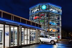 Carvana Opens Giant Five Story Vending Machine For Used Cars