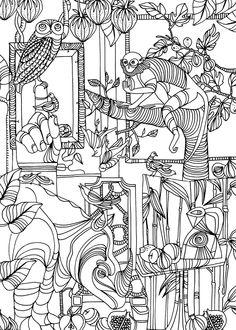 Liselotte Watkins Fauna and flora sketch.