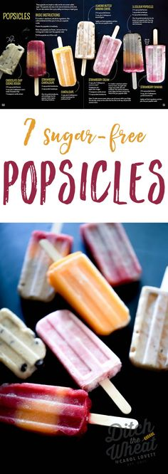 All naturallysweetened and kid friendly. dairy free popsicles, healthy popsicles, paleo popsicles, vegan popsicles Source by Sugar Free Popsicles, Sugar Free Snacks, Sugar Free Desserts, Sugar Free Recipes, Sugar Free Ice Pops, Sugar Free Ice Cream, Sugar Free Vegan, Flour Recipes, Home Made Popsicles Healthy