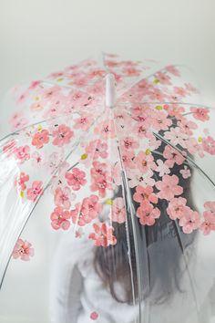 Hand painted cherry blossom umbrella