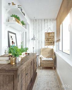 Загородный уют в городской квартире (балкон) интерьер, назначение - квартира, дом | тип - балкон, лоджия, терраса | площадь - 0 - 10 м2 | стиль - кантри. Разместил INT2architecture на портале arXip.com