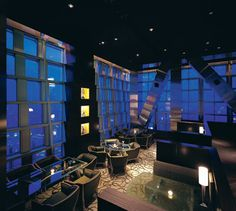 Cloud 9, one of the highest cocktail bars in the world on the 87th floor of the Jin Mao Tower- the Shanghai Grand Hyatt