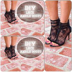 Revamp your heels to lace ankle boots! Easy, beginner level tutorial posted today. Materials needed: Caged heel, lace, e6000 glue