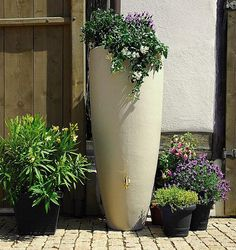 Depósitos decorativos para recoger el agua de lluvia