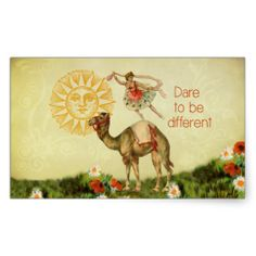 SOLD! Two sheets of Vintage Ballerina, Flowers, and Camel Collage Stickers by Vintage Art Bazaar on Zazzle. #vintage #collages #ballerina #dancers #camels #inspirational #motivational