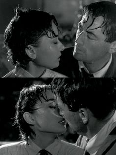 Gregory Peck and Audrey Hepburn in Roman Holiday, 1953.