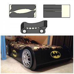 Batmobile full Bed - Batman Decoration - Ideas of Batman Decoration - Batmobile full Bed plans! Cama Batman, Batman Bedroom, Superhero Room, Car Bed, Lego Room, Full Bed, Bed Plans, Batmobile, Do It Yourself Home