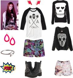 "Outfit inspired by F(x) Krystal in ""Electric Shock"""