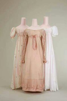 Regency 1815 While I don't love the high waists of regency gowns, don't they make romantic nightgowns?