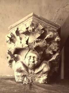 Gustave Lancelot (French, 1830-1906), Troyes Cathedral Corbel, ca. 1870-86. Albumen print. 15/5/3090.00262, Andrew Dickson White Architectural Photographs Collection. Division of Rare and Manuscript Collections, Cornell University Library