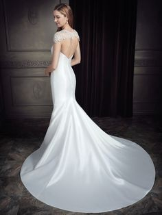 Ella Rosa Style BE347B (Includes Beaded Jacket - DA347) #weddingdress #bridal