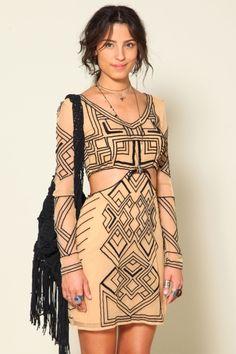 vestido tule tribal FARM