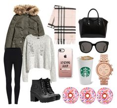 """DoNut Care Day"" by bohemianbahamian97 on Polyvore featuring Hunter, Burberry, Givenchy, Gentle Monster, FOSSIL, Casetify and Iscream"