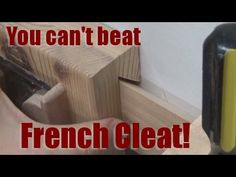 Shop Talk: You can't beat french cleat! - YouTube