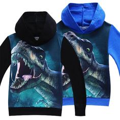 Summer Autumn Boys Girls Dinosaur Pattern Long Sleeve T-Shirts Kids boys t shirts 3D Printed Hoodies Big Boy Sweatshirt Clothes //Price: $15.51 //     #fashionkids