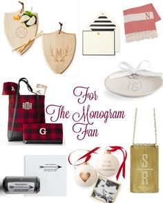 Monogram Holiday Gifts