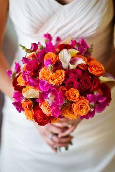 Oranje met roze als accentkleur bij je bruiloft blog.weddings.nl