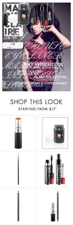 """""""AMY WINEHOUSE EYE LINER MAKEUP INSPIRED LOOK"""" by oroartye-1 on Polyvore featuring beauty, Amy Winehouse, MAC Cosmetics and Rimmel"""