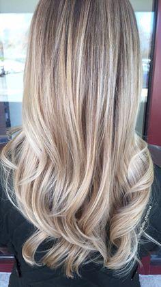 Blonde balayage #blonde #balayage #hairpainting #hair #haircolor