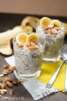 banana chia seed pudding from eatgood4life.com #eatcleanpinparty