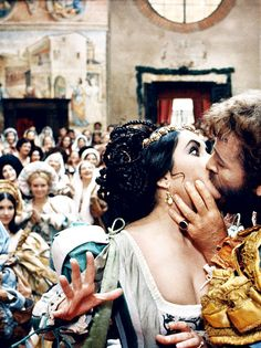 Elizabeth Taylor and Richard Burton in The Taming of the Shrew, 1967. Via http://hollywoodlady.tumblr.com/