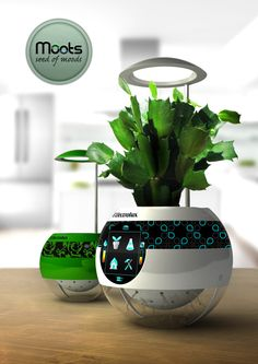 Moots' Hydroponic Garden by designer Matej Korytár lets you know just how your plant is doing!