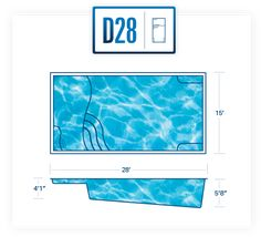 diagram 15 ft Wide x 28 ft Long ft Deep to ft Deep An Automatic Cover could be used on this model Backyard Pool Designs, Swimming Pools Backyard, Backyard Ideas, Outdoor Ideas, Landscaping Ideas, Pool Hacks, Pool Steps, Small Pool Design, Pool Coping