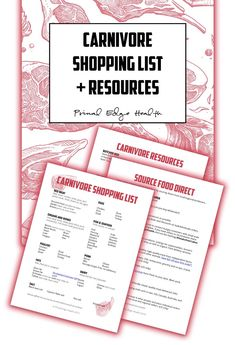 Carnivore Diet Food List Printable + tutorial on how to find local farmers and food producers. This packet is made to keep your zero-carb, carnivore diet simple and easy. Easy Ketogenic Meal Plan, Ketogenic Diet Food List, Best Keto Diet, Keto Diet Plan, Ketogenic Recipes, Diet Recipes, Meat Diet, Diet Coke, Diet Menu