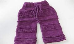 Knitted pants for boys