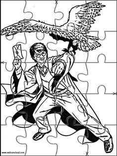 Printable jigsaw puzzles to cut out for kids Harry Potter 36 Coloring Pages Harry Potter Activities, Harry Potter Games, Harry Potter Printables, Harry Potter Enfants, Hardy Potter, Magie Harry Potter, Theme Animation, Harry Potter Bricolage, Kid Crafts