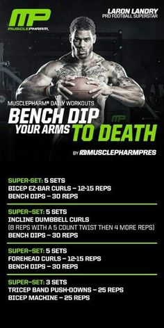 Triceps /biceps and lots of dips.  Great for Wednesday workout