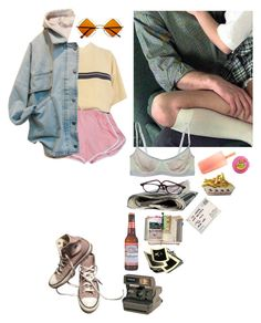 """""""inexplicably summer & inexplicably in love (again)"""" by wasteyrselfff ❤ liked on Polyvore featuring Soffe, Converse, A2 by Aerosoles, Polaroid, Retrò and Suck"""