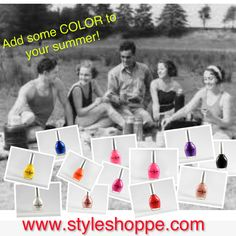 Add some color to your summer with Superstar Nail Lacquer. www.styleshoppe.com