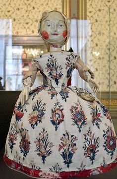 Wooden Peg Doll, displayed in the Hague Museum, Holland. 1