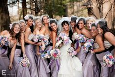 Love the Lavender Dresses & the Bridesmaids Hairpieces