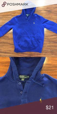 Royal blue Polo hoodie Polo by Ralph Lauren royal blue hoodie. Barely worn, like new Polo by Ralph Lauren Shirts & Tops Sweatshirts & Hoodies