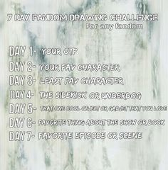 7 day fandom Drawing challenge